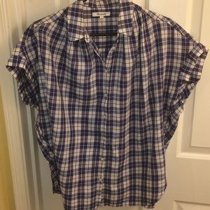 Madewell open back Button down